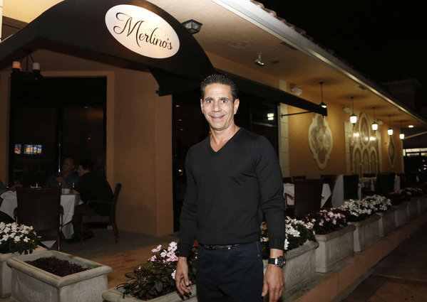 Joey Merlino at restaurant