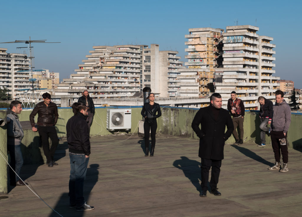 Filming the hit show Gomorrah with Le Vele in the background