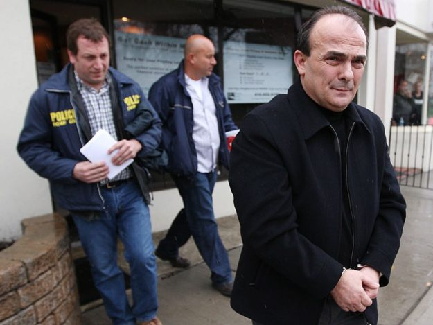 "Vincenzo ""Jimmy"" DeMaria being arrested for a parole violation in 2009."
