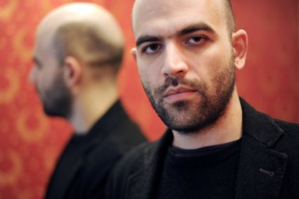 Author Roberto Saviano who is currently under police protection in New York