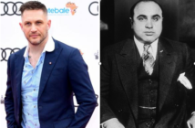 Tom Hardy portrays Al Capone in the upcoming movie, Capone
