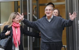 Vincent Asaro leaving Brooklyn Federal Court after he was found not guilty. November, 2015