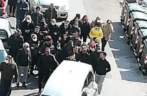 Funeral procession for Rosario Sparacio, 70, brother of ex-mafioso Luigi Sparacio