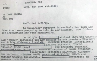 An FBI document that was filed away nearly 45 years ago, documents a 1976 vote by New York's ruling mob commission. For the first time in two decades, they are discussing admitting new members.