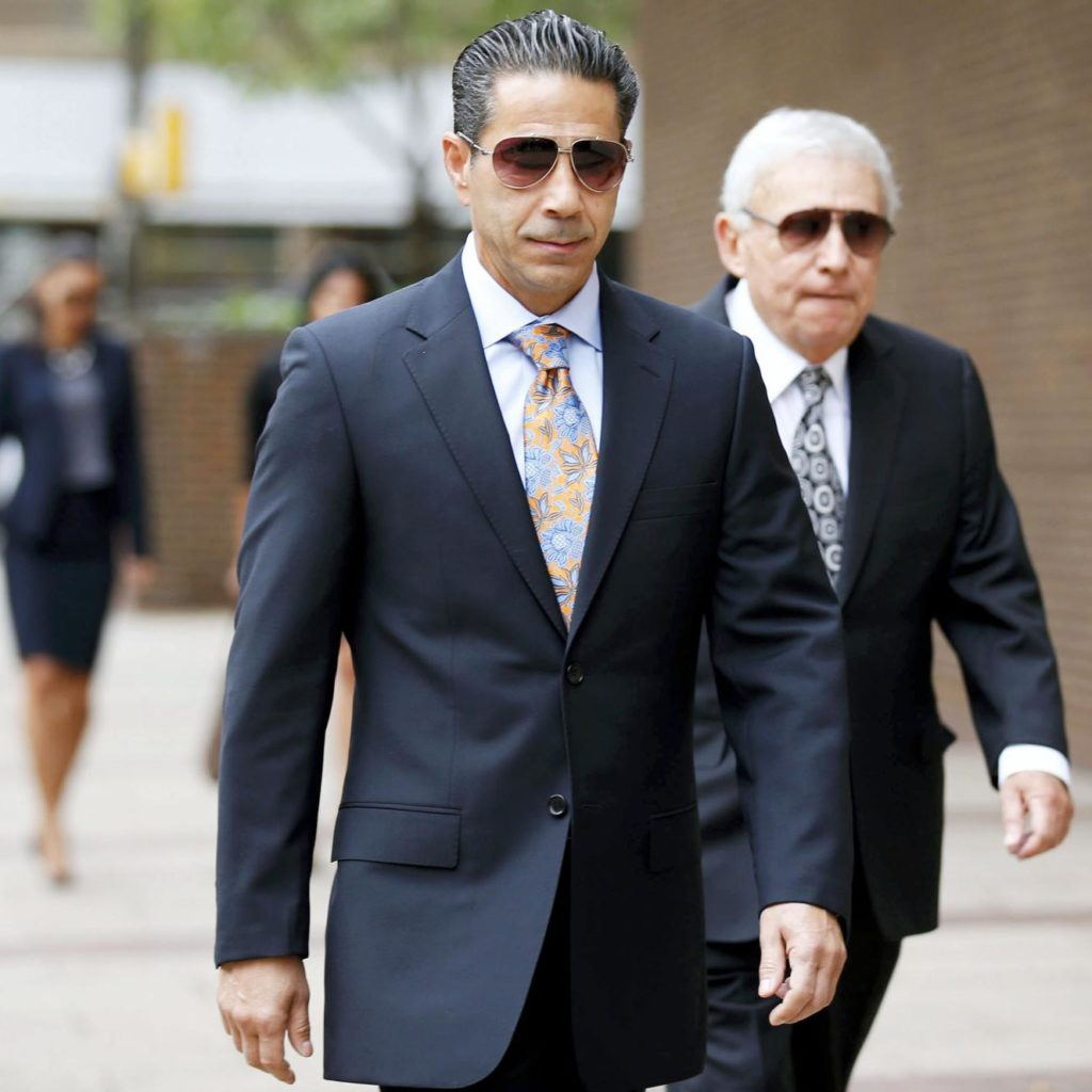 """Skinny Joey"" Merlino walking into Philadelphia Federal Court, 2014"