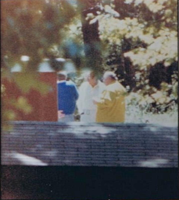 FBI photo, taken on June 11, 1979, of the meeting at The Timberland Game Farm in Dexter. Convicted mob boss Jack Tocco (center), Vito Giacalone (left) and Anthony Corrado (right).