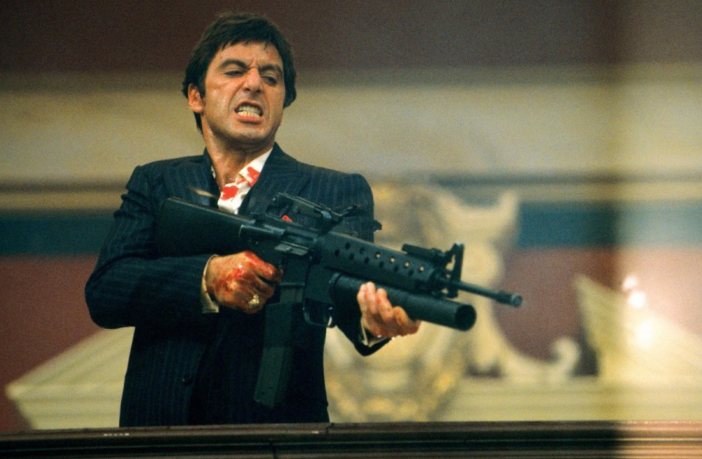 Al Pacino in the 1983 version of Scarface. A remake directed by Luca Guadagnino has been announced.