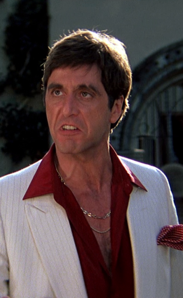 Al Pacino as Tony Montana in the 1983 version of Scarface