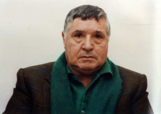 Toto Riina in 1993 after being arrested