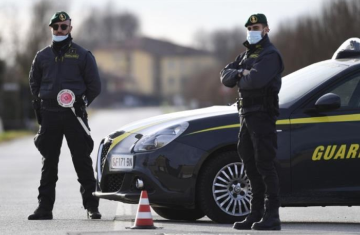 The Guardia Di Finanzia who were part of an Italian and Swiss sting operation against the 'Ndrangheta mafia.