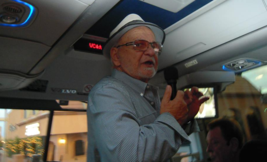Frank Cullotta in 2014 on one of his Vegas Mob Tours.